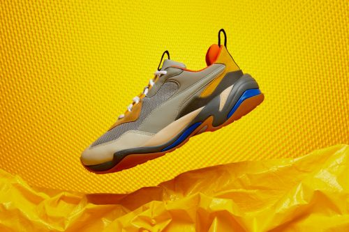A Closer Look at the Boldly Colored Yellow, Blue & Orange PUMA Thunder Spectra