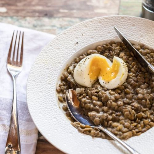 French Lentils and Eggs