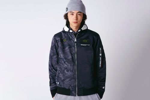 AAPE Rejoins Alpha Industries for Collaborative SS20 Layering Pieces