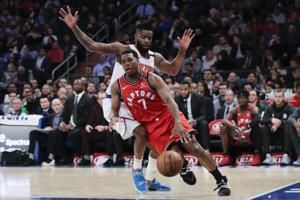 Lowry, Siakam lead Raptors past Knicks for 6th straight win