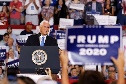 Pence 'not pleased' with 'send-her-back' chant, but declines to urge an end