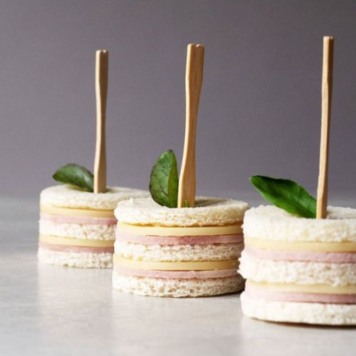 Easy Ham and Cheese Tea Sandwiches