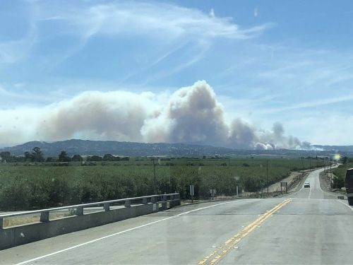 Crews battle 100-acre fire in Yolo County near Capay Valley