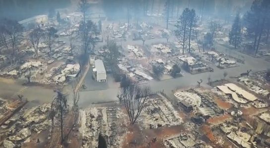Drone footage shows aftermath of Camp Fire in California