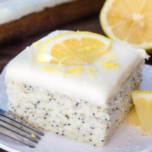 Lemon Poppyseed cake + video