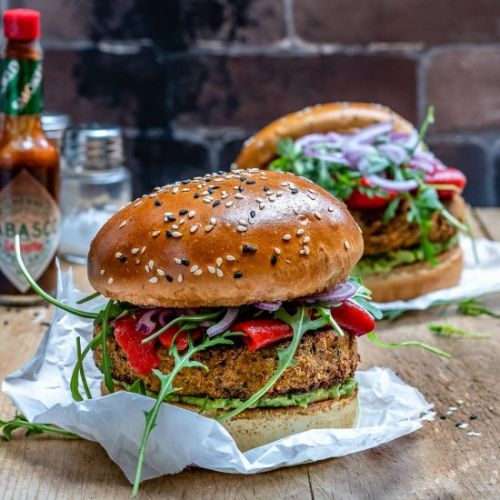 Easy Vegan Veggie Burger Recipe