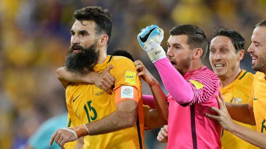 Hat-trick hero Jedinak leads by example to send Australia to the World Cup