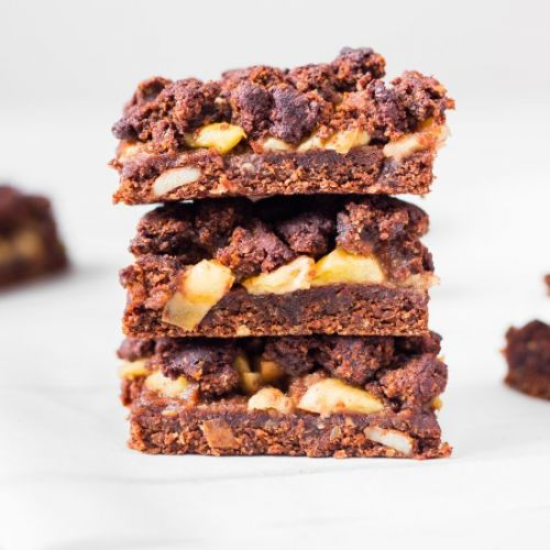 Vegan Chocolate Apple Pie Crumb Bar
