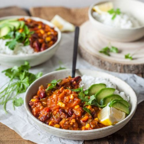 Easy One-Pot Spicy Vegan Chili