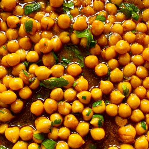 5 Minute Spiced Chickpeas