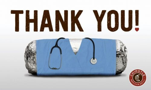 Chipotle Launches New Egift Card Program To Support Healthcare Heroes