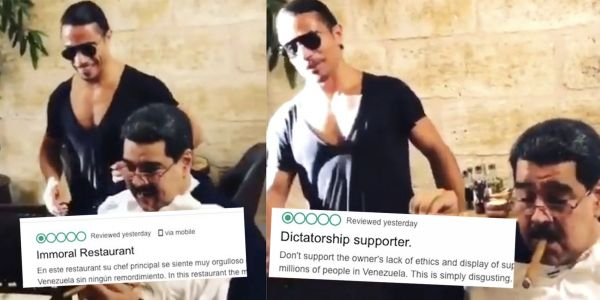 People are leaving 1-star reviews for Salt Bae's restaurant after he served steak to Venezuela's president