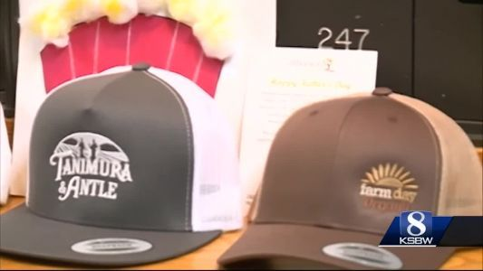 Kids deliver caps and cards to elderly dads for Father's Day