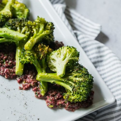 Roasted Broccoli Olive Tapenade