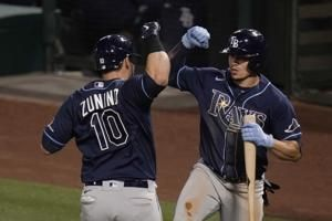 Rays score 7 runs in 8th to complete 4-game sweep of Angels