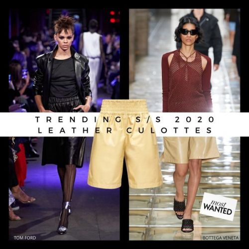 Trending S/S 2020: Leather Culottes