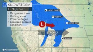 Snowstorm to rock the northern Rockies towards the weekend - travel advisory