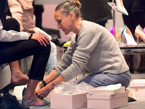 Sarah Jessica Parker was literally on the floor selling her new shoes - and it's businesswoman goals