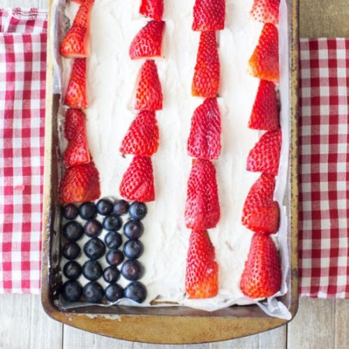 Red White and Blue Cookie Bars
