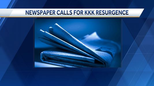 Newspaper editor calls for resurgence of KKK, suggests lynchings as a way to clean up Washington