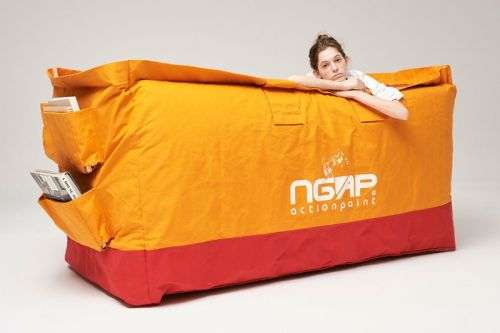 NGAP and SKOLOCT Unveil A Massive Tote Bag Daybed for Dayz