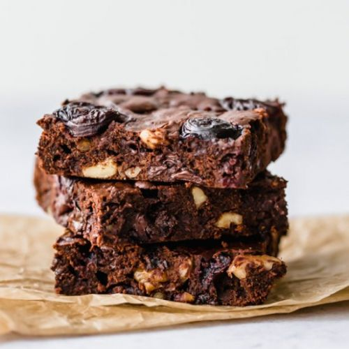 Dark Chocolate Cherry Brownies