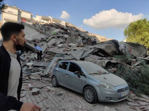 Strong Aegean Sea earthquake topples buildings in Turkey