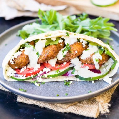Homemade Falafel Wraps