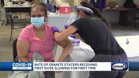Rate of Granite Staters receiving first dose slowing for first time