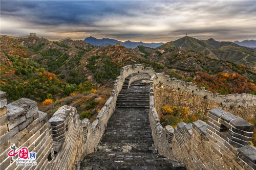 Autumn scenery of Jinshanling Great Wall