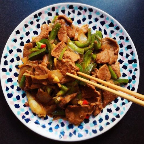 Stir-Fry Beef with Green Peppers