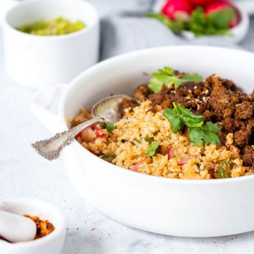 Taco Beef with Cauli-Rice