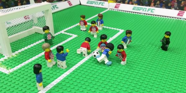 ESPN found a clever way to show restricted highlights of the World Cup final - with LEGOs
