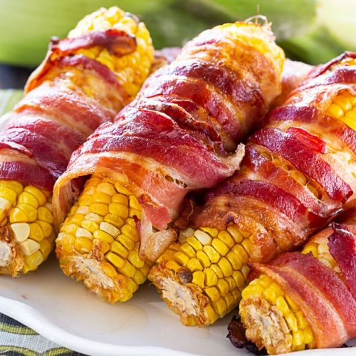 Bacon-Wrapped Corn on the Cob Is the Best Summer Side
