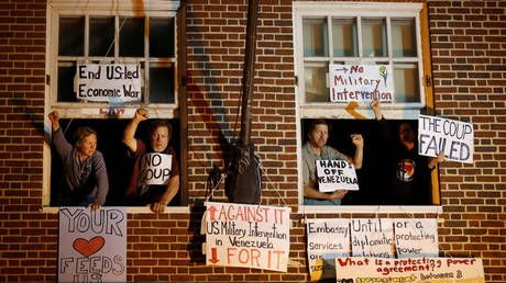 Anti-coup activists charged with 'interfering' in US raid on Venezuelan embassy
