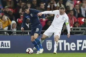 No goal for Wayne Rooney in 120th, final England appearance