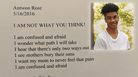 'I am confused and afraid:' School releases poem written by teen shot, killed by officer