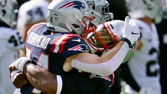 Patriots ground game leads them to victory over Raiders