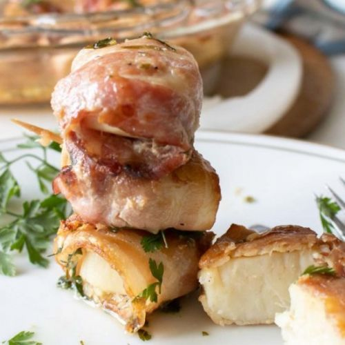 Oven Baked Bacon Wrapped Scallops