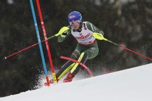 The Latest: Shiffrin fights illness in bid for slalom gold