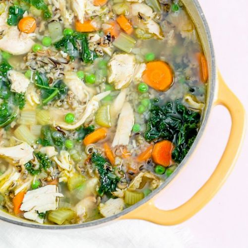 Leftover Turkey Soup with Wild Rice