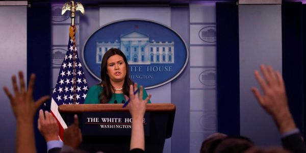 Sarah Huckabee Sanders issues wild statement claiming 'Russian Witch Hunt Hoax' is undermining US-Russia relationship