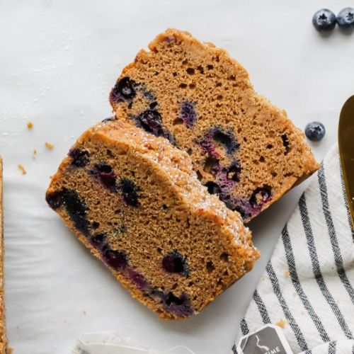 Earl Grey Blueberry Loaf Cake