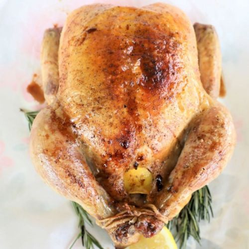 Easy Roasted Herb Stuffed Chicken