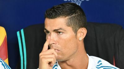 Cristiano Ronaldo sensationally shoves referee after being sent off in Clasico