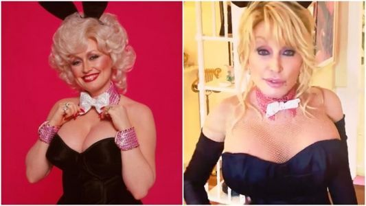 Watch Dolly Parton recreate her iconic Playboy cover 40 years later