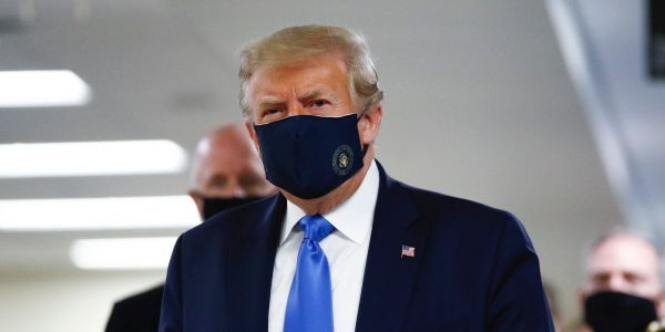 Trump has been spotted wearing a mask publicly for the first time since the coronavirus pandemic began