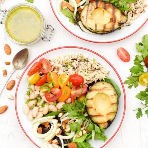 Grilled Avocado Buddha Bowl