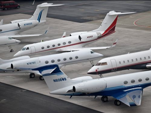 Here are the $60 million private jets that fly business leaders to Davos for the World Economic Forum