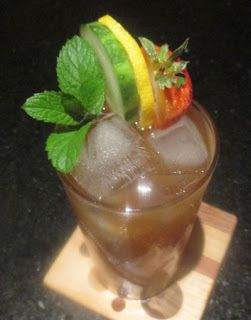 Amped-up pimm's cup